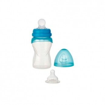 Saro Silicone Baby Bottle with spoon