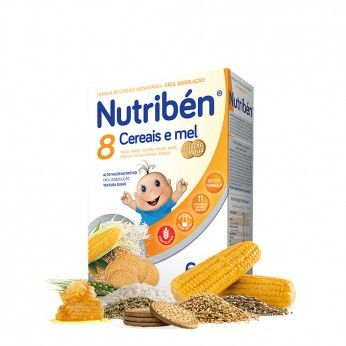 Nutribén 8 Cereals and Honey with Maria Papa Non-Milky Wafer
