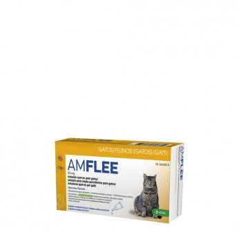 Amflee Spot On 50 mg Gatos 3 Pipetas