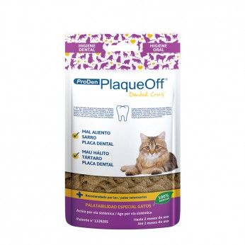 ProDen PlaqueOff Dental Crocante Gatos 60 g