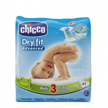 Chicco Dry Fit Advanced T3 4-9 kg 21 Fraldas