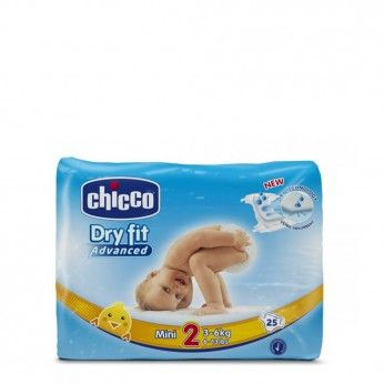 Chicco Dry Fit Advanced T2 3-6 kg 25 Fraldas
