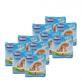Chicco Dry Fit Advanced T3 4-9 kg 21 Fraldas 10 PACKS