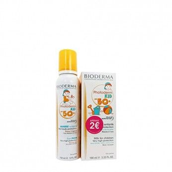 Bioderma Photoderm Kid Mousse SPF50+ + Photoderm Kid Leite SPF50+