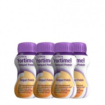 Fortimel Compact Protein Gengibre Tropical Pack 4