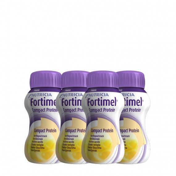 Fortimel Compact Protein Baunilha Pack 4