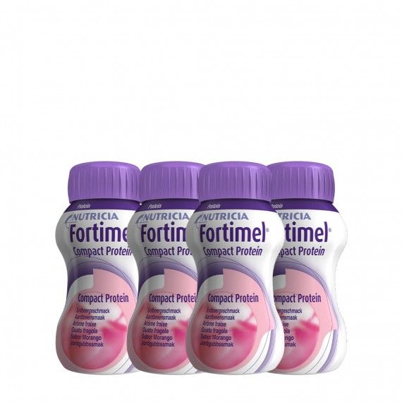 Fortimel Compact Protein Morango Pack 4